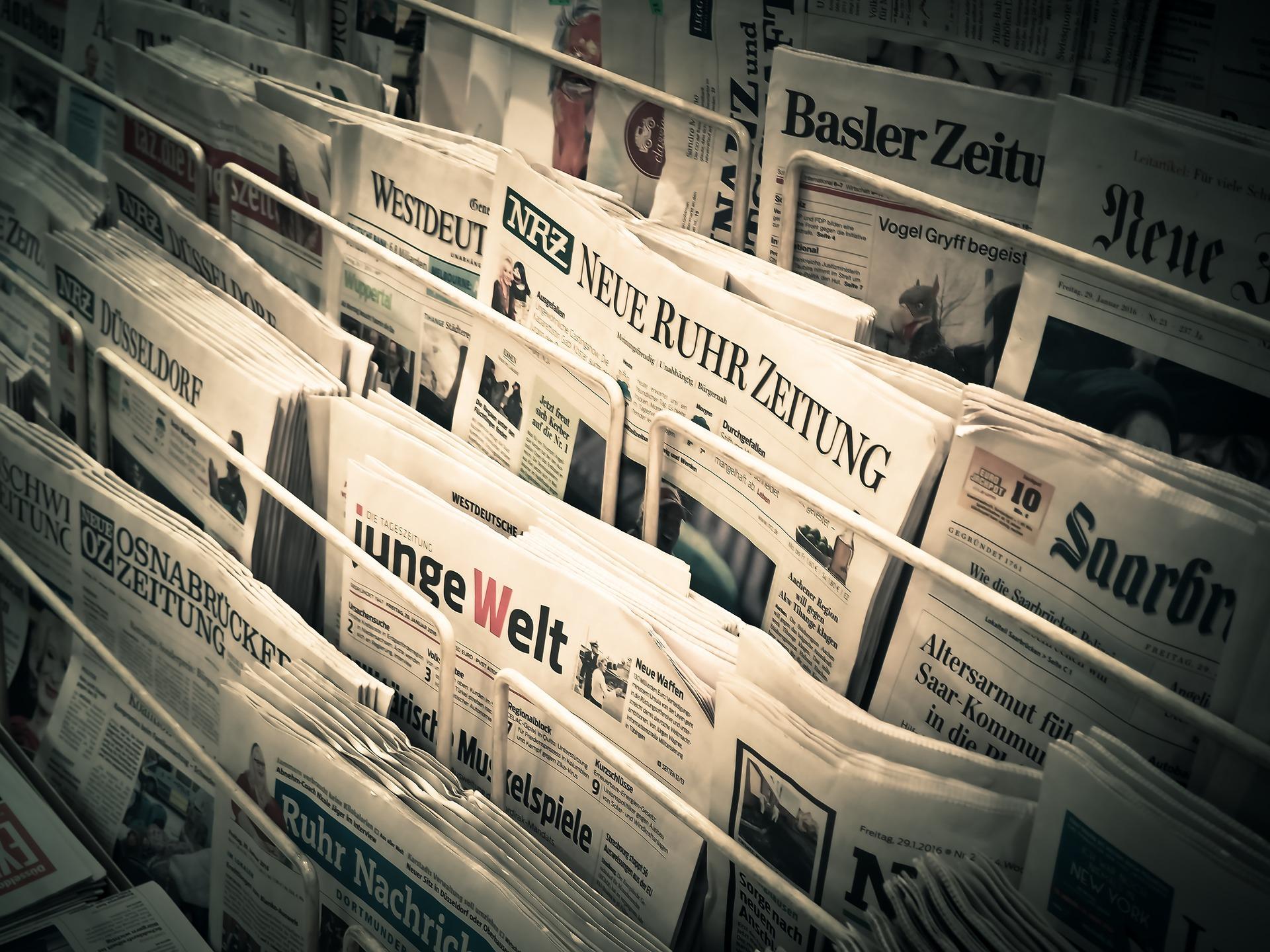 Tageszeitungen, Zeitschriften