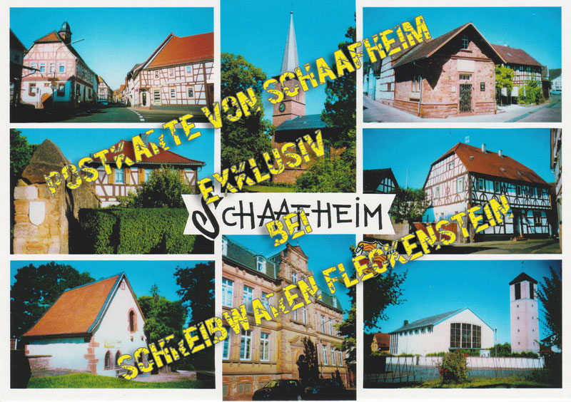 Postkarte von Schaafheim exclusive bei Schreibwaren Fleckenstein