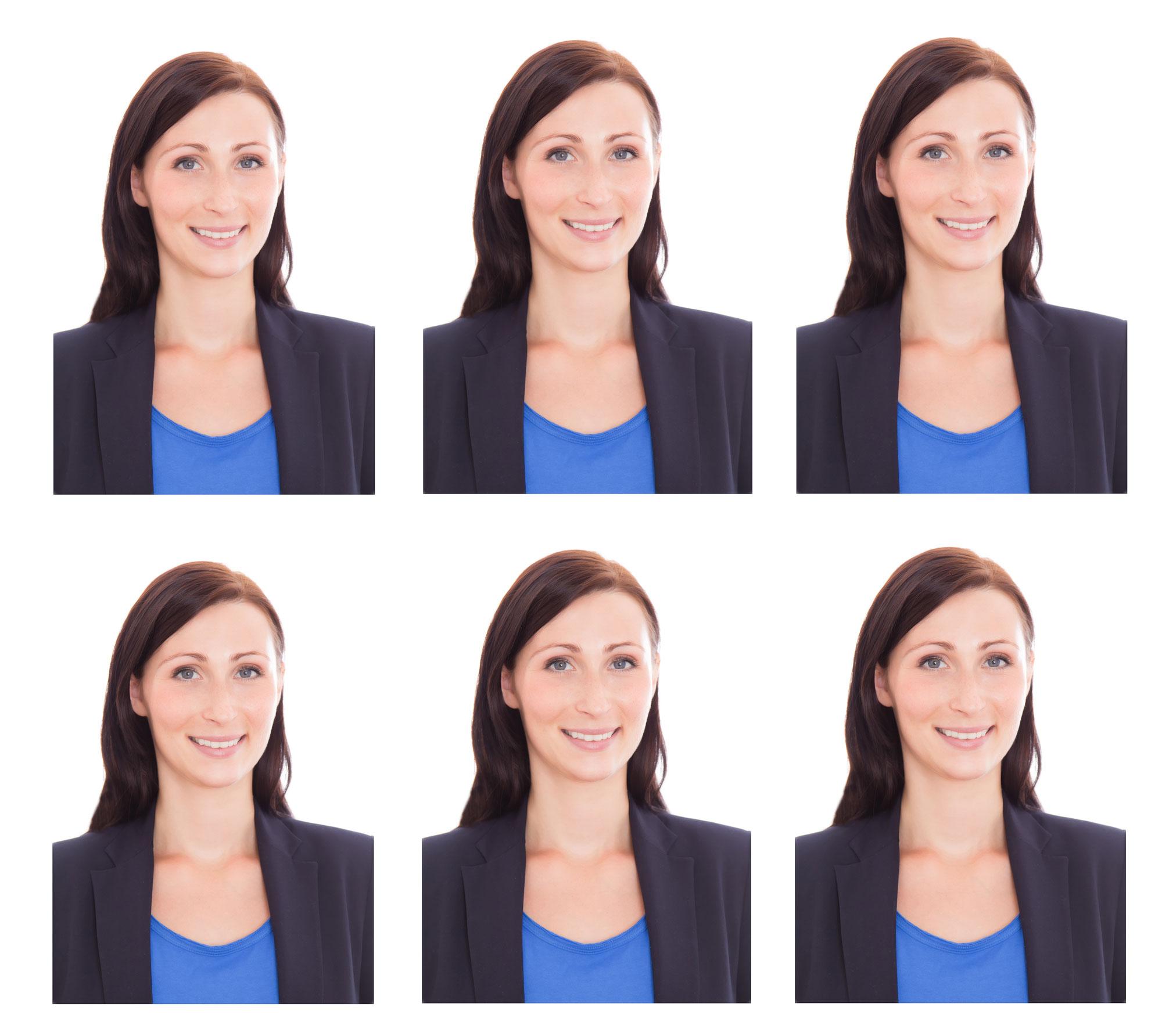 Ein Passbild ist biometrisch, wenn es bestimmte Anforderungen erfüllt, die zur erleichterten Gesichtserkennung anhand des Bildes beitragen. Übliche Anforderungen sind: frontale Aufnahme festgelegte Position des Kopfes im Bild strukturloser Hintergrund (z. B. hellgrau) neutraler Gesichtsausdruck gute Ausleuchtung ohne Reflexionen und Schatten auf Gesicht und Hintergrund Ob ein Passbild biometrisch ist, hat nichts damit zu tun, ob die Speicherung auf dem Pass elektronisch erfolgt.