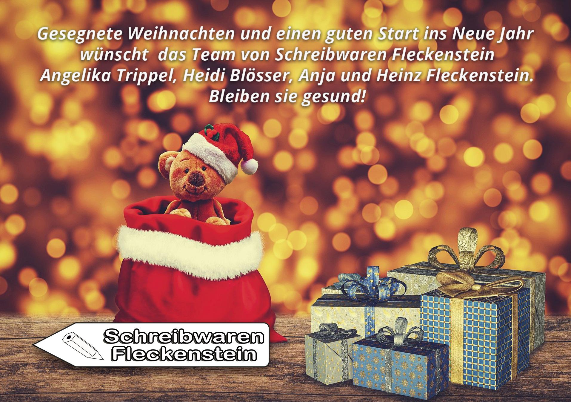 Weihnachtsgruss 2020 Schreibwaren Fleckenstein Schaafheim